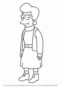 Learn How To Draw Mona Simpson From The Simpsons  The Simpsons  Step By Step   Drawing Tutorials