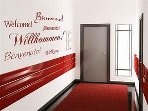Tapeten Für Flur Und Treppenhaus : wandtattoo willkommen in sechs sprachen ~ Sanjose-hotels-ca.com Haus und Dekorationen