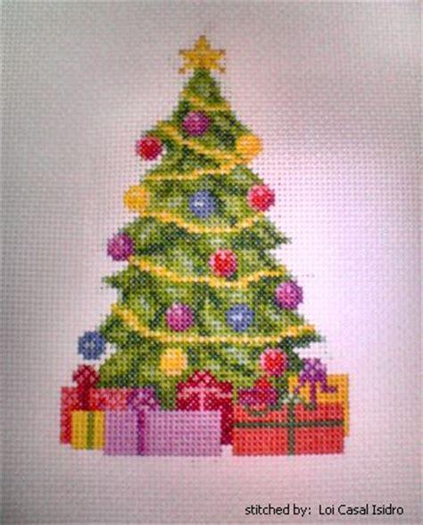 christmas tree cross stitch pattern tree