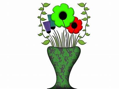 Vase Flowers Flower Draw Drawing Step Easy
