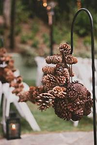 Flower Place Cards 25 Budget Friendly Rustic Winter Pinecone Wedding Ideas