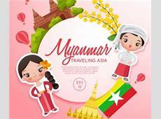 Vietnam travel cartoon template vector Vector Cartoon