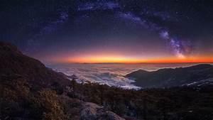 2048x1152, Cloud, Landscape, Milky, Way, Nature, Night, Panorama, Sky, Starry, Sky, Stars, 2048x1152