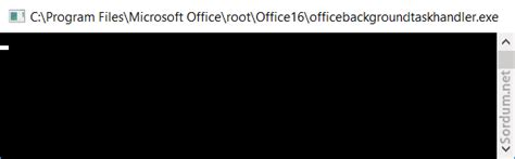 Office Background Task Handler by Windows 10 Da Anlık G 246 R 252 N 252 P Kaybolan Pencere