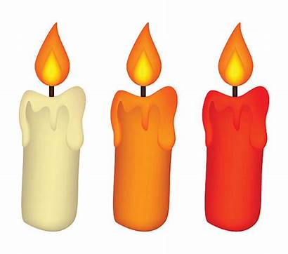 Candle Candles Clipart Burning Wax Symbol Christmas