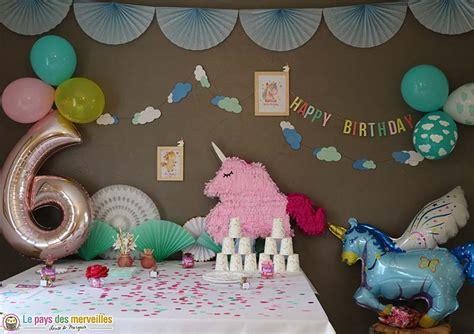 décoration anniversaire thème licorne anniversaire licorne pour la f 234 te d anniversaire de ses 6 ans