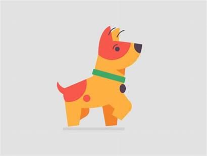 Dog Walking Animation Animated Dribbble Motion Walk