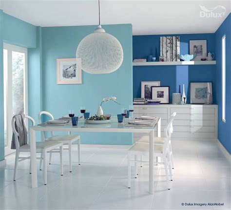 here we see how a two tone blue room can be so effective