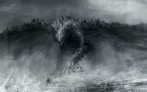 Black and White Dragon Wallpaper - WallpaperSafari