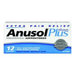 Anusol Suppositories for Hemorrhoids
