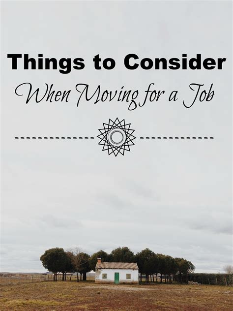 Things To Consider When Moving For A Job  Families With