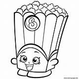 Popcorn Template Coloring Shopkins Pages Box Poppy Corn Season Sketch sketch template