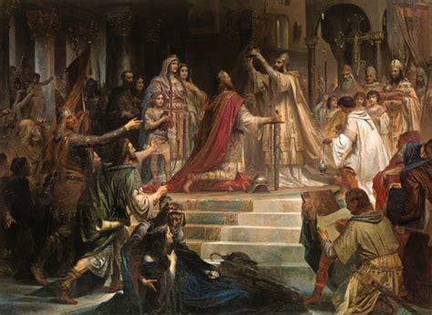 Charlemagne, coronation - Kaulbach as art print or hand ...