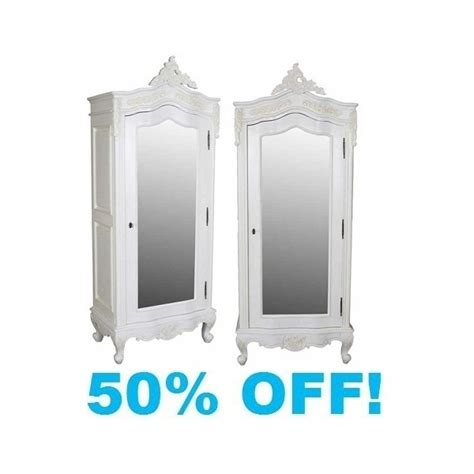 White Armoire With Mirrored Door by White Painted Small 1 Door Mirrored Armoire
