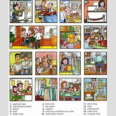 Places Around Town Or City Vocabulary With Pictures