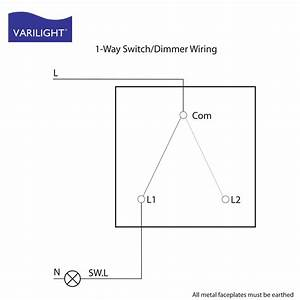 Single Pole Dimmer Switch Wiring Diagram Uk