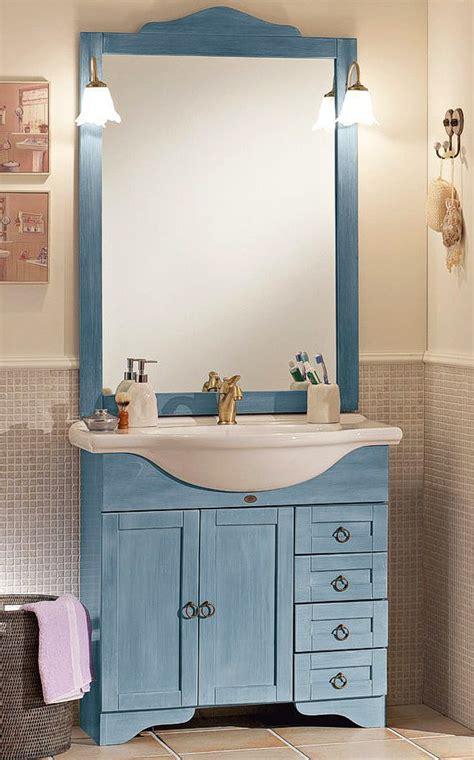 blaue badezimmermoebel