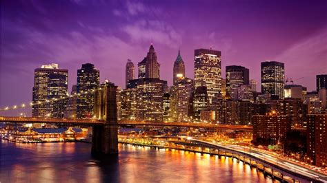 new york city embankment lights wallpapers 1366x768 437043