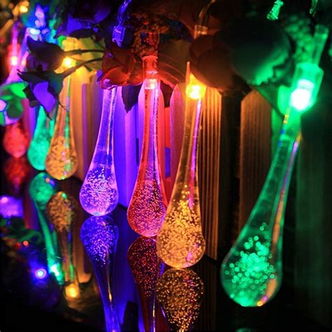 outdoor christmas lights led icicle decoration multi color