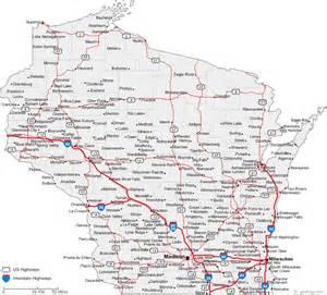 Wisconsin Map Cities