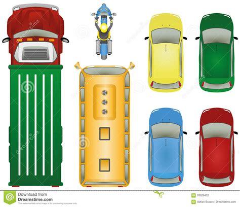 bus auto lkw fahrrad stock abbildung illustration von