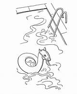 Coloring Pages Summer Swimming Pool Sheets Fun Colouring Activity Drawing Backyard Children Clipart Activities Sketch Printable Bluebonkers Popular Toddlers Getdrawings sketch template