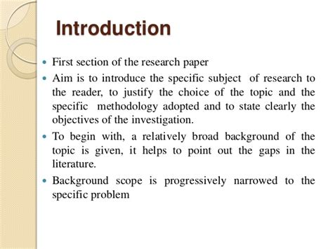 Intro To Writing A Paper by Research Paper Introductions The Writing Center