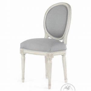 Chaise Medaillon Blanche : chaise louis xvi patin e tissu gris m daillon saulaie ~ Teatrodelosmanantiales.com Idées de Décoration