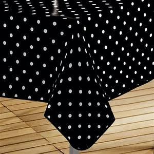 Nappe Cirée Rectangulaire : nappe cir e rectangulaire l240 cm lollypop noir linge de table eminza ~ Teatrodelosmanantiales.com Idées de Décoration