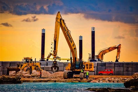 You'll find all sites to buy this image and see similar ones. Free photo Construction Site Heavy Machines Sky Sea ...