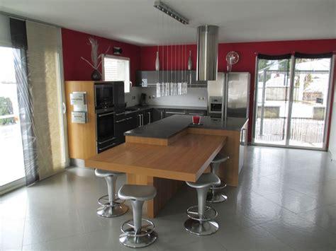 cuisine 12m2 ilot central cuisine équipée avec îlot central
