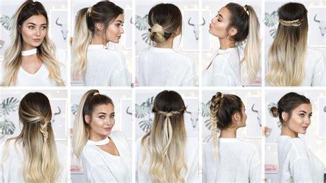easy heatless   school hairstyles youtube