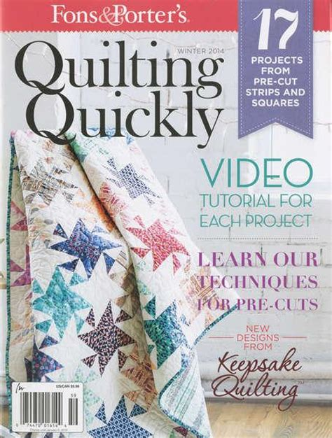 fons and porter quilting quickly fons and porter quilting quickly magazine 074470016144