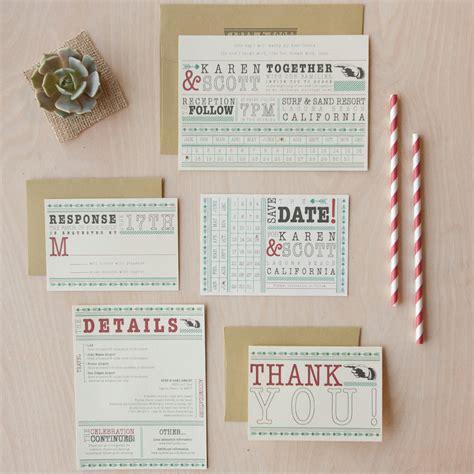 30 Unique Vintage Wedding Invitations
