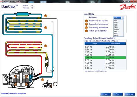tabla de capilares de refrigeracion software de selecci 243 n de tubos capilares dancap 1 0