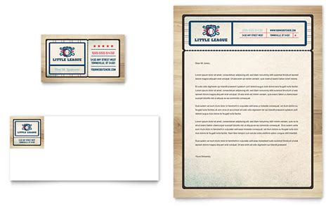 Baseball Card Template Template Business Baseball League Business Card Letterhead Template Design