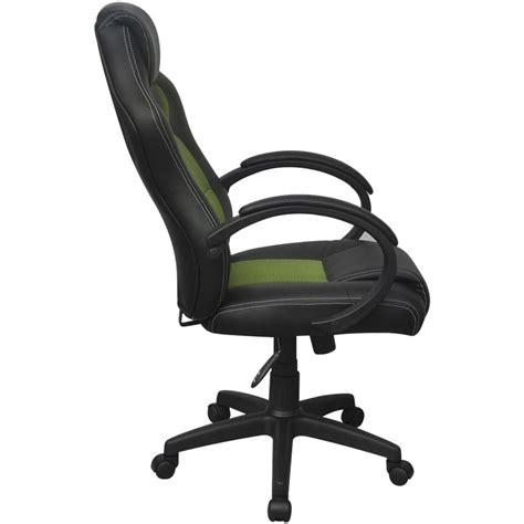 chaise de bureau en cuir acheter vidaxl chaise de bureau en cuir artificiel vert
