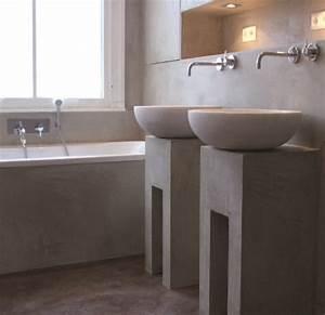 Beton Ciré Sol Salle De Bain : beton cire sol salle de bain 3 le b233ton cir233 pour sol et mur par harmony beton modern aatl ~ Preciouscoupons.com Idées de Décoration