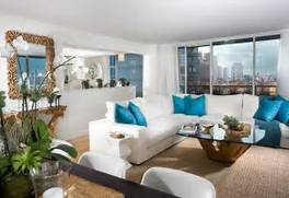 Interior Design For Apartment Living Room by Residential Apartment Living Room Interior Design Of South Pointe Tower Flor
