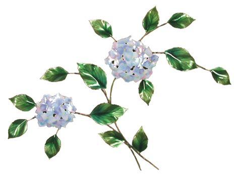 Pink & green rose hydrangea wall decor. f49 SMALL HYDRANGEA ARRANGEMENT flower Wall hangings metal ...