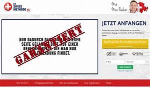 Swiss Methode Erfahrung : watchlist internet warnung vor der schweizer methode ~ Markanthonyermac.com Haus und Dekorationen
