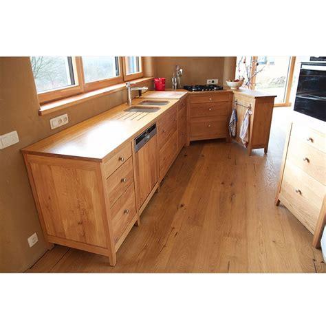 le chene cuisine cuisine quot reflets quot en chêne 100 massif le bois d 39 antan