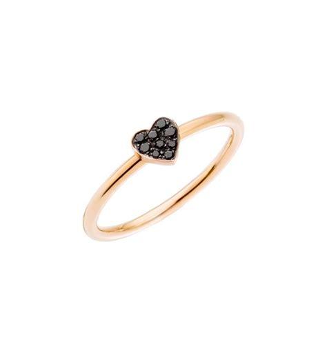 Pomellato Anello Cuore by Bracciale Stella Oro Rosa 9 Kt Diamanti Black