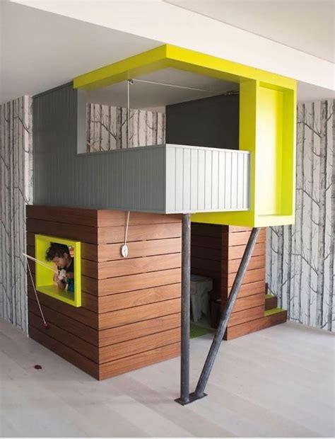 cabane dans chambre des idées et des inspirations pour réaliser un lit cabane