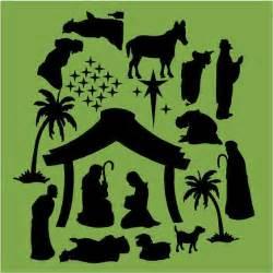 Vinyl Nativity Silhouette