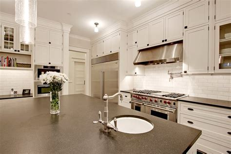 Honed Absolute Black Granite   Transitional   kitchen