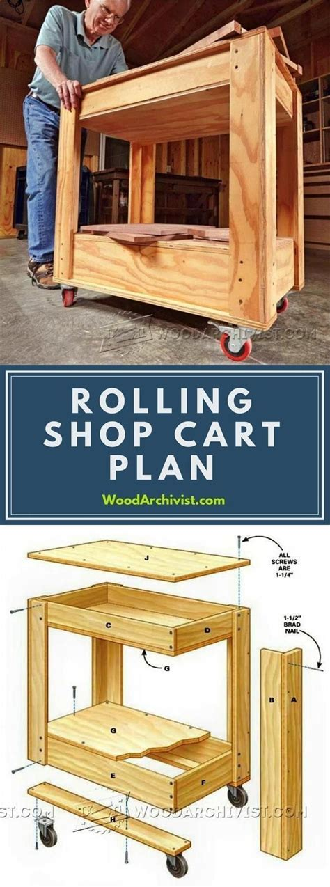 woodworking wood profit rolling shop cart plans