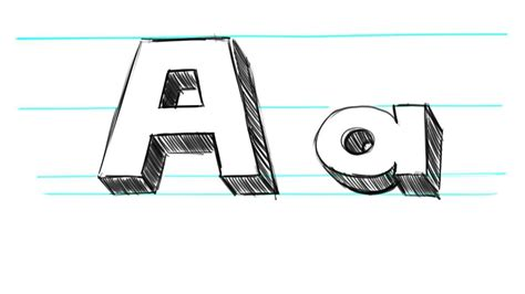 how to draw letters in 3d 3d letter a theveliger 50276
