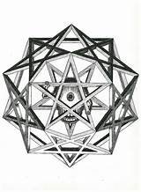 Coloring Pentacle Pentagram Template Triquetra Adults Wiccan sketch template
