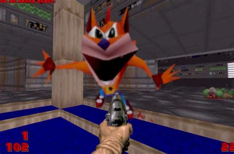 Crash Meme - crash bandicoot quot whoa quot meme replaces every demon in doom